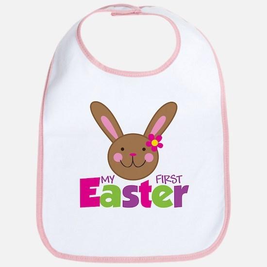 Girl Easter Bunny 1st Easter Bib
