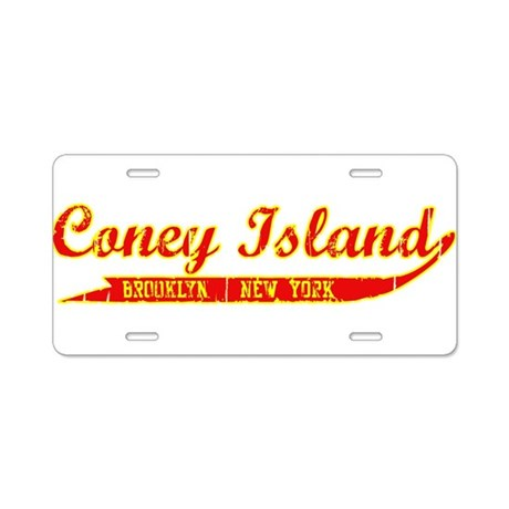 Coney Island Brooklyn, New Yo Aluminum License Pla