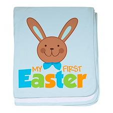 Boy Easter Bunny 1st Easter baby blanket