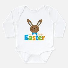 Boy Easter Bunny 1st Easter Long Sleeve Infant Bod