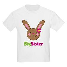 Girl Easter Bunny Big Sister T-Shirt