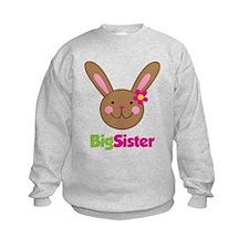 Girl Easter Bunny Big Sister Sweatshirt