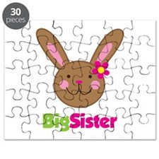 Girl Easter Bunny Big Sister Puzzle