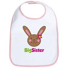 Girl Easter Bunny Big Sister Bib