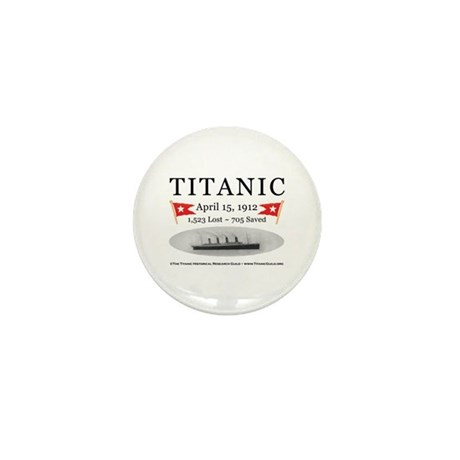 Titanic Ghost Ship (white) Mini Button