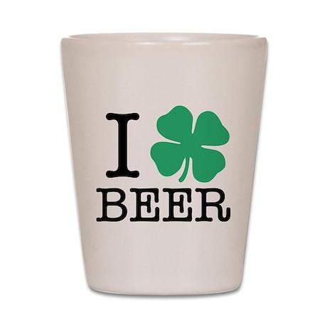 I Shamrock Beer Shot Glass
