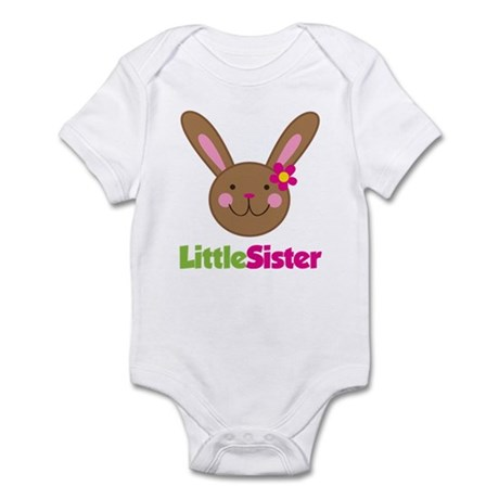 Easter Bunny Little Sister Infant Bodysuit