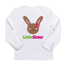 Easter Bunny Little Sister Long Sleeve Infant T-Sh