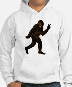 Bigfoot Yeti Sasquatch Peace Hoodie