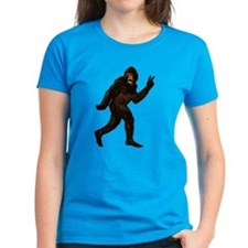 Bigfoot Yeti Sasquatch Peace Tee