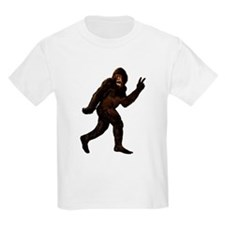 Bigfoot Yeti Sasquatch Peace T-Shirt