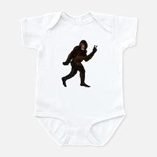 Bigfoot Yeti Sasquatch Peace Infant Bodysuit