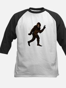 Bigfoot Yeti Sasquatch Peace Kids Baseball Jersey