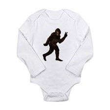 Bigfoot Yeti Sasquatch Peace Long Sleeve Infant Bo