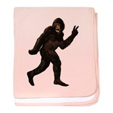 Bigfoot Yeti Sasquatch Peace baby blanket