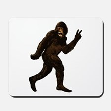 Bigfoot Yeti Sasquatch Peace Mousepad