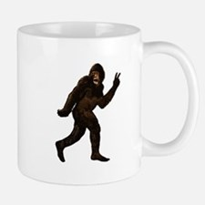 Bigfoot Yeti Sasquatch Peace Mug