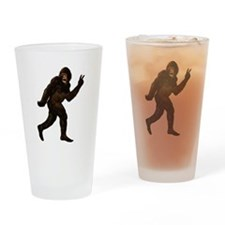 Bigfoot Yeti Sasquatch Peace Drinking Glass