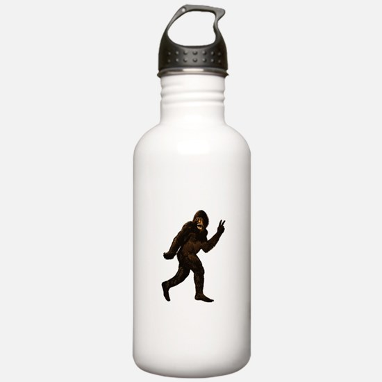 Bigfoot Yeti Sasquatch Peace Water Bottle