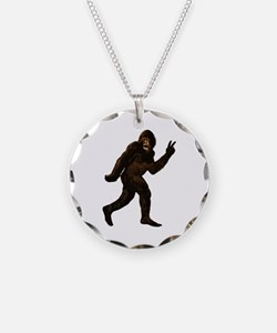 Bigfoot Yeti Sasquatch Peace Necklace