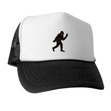 Bigfoot Yeti Sasquatch Peace Trucker Hat