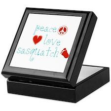Peace, Love and Sasquatch Keepsake Box