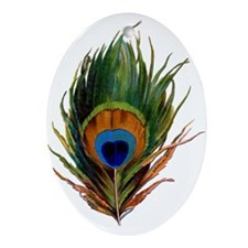 Peacock Plume Ornament (Oval)