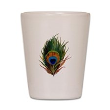 Peacock Plume Shot Glass