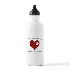 Codar Paw in Heart Water Bottle