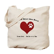 Codar Paw in Heart Tote Bag