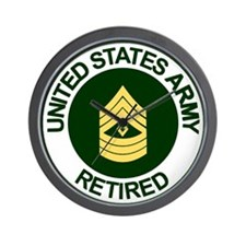 Retired Army<BR>First Sergeant<BR>Wall Clock