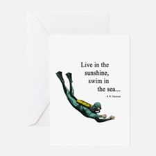 Sea Scuba Diver Greeting Card