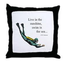 Sea Scuba Diver Throw Pillow