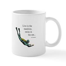Sea Scuba Diver Small Mug