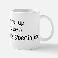 Grow Up Public Relations Spec Mug