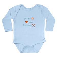 Peace, Love and Lacrosse Long Sleeve Infant Bodysu