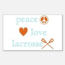 Peace, Love and Lacrosse Decal