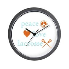 Peace, Love and Lacrosse Wall Clock