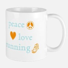 Peace, Love and Running Mug