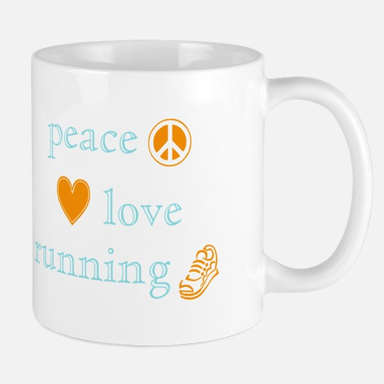 Peace, Love and Running Mug