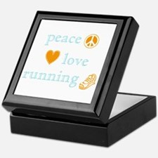 Peace, Love and Running Keepsake Box