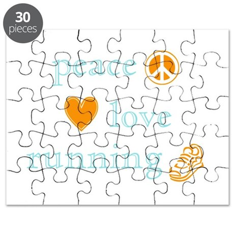 Peace, Love and Running Puzzle