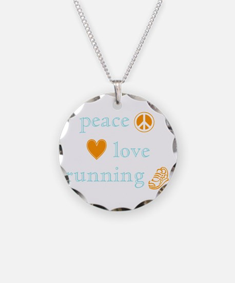 Peace, Love and Running Necklace