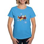 Giraffe - Airplane Women's Dark T-Shirt