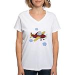 Giraffe - Airplane Women's V-Neck T-Shirt