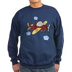 Giraffe - Airplane Sweatshirt (dark)