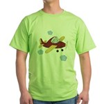 Giraffe - Airplane Green T-Shirt