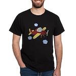 Giraffe - Airplane Dark T-Shirt