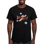 Giraffe - Airplane Men's Fitted T-Shirt (dark)