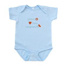 Peace, Love and Sasquatch Infant Bodysuit